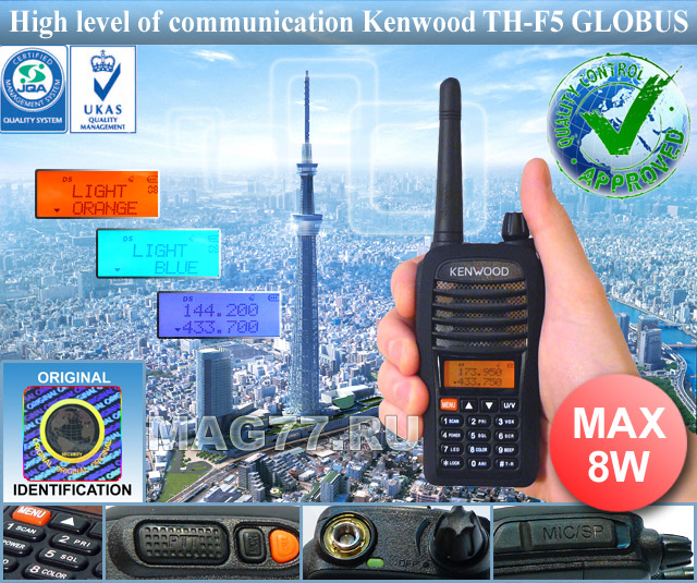 Kenwood TH-F5 GLOBUS